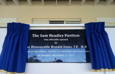 Lodge School Auditorium Official Opening and Re-naming!